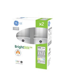 GE lighting LED žárovka E27, 16W, 2ks - denní bílé světlo