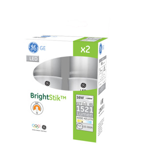 GE lighting LED žárovka E27, 16W, 2ks - neutrální bílé světlo