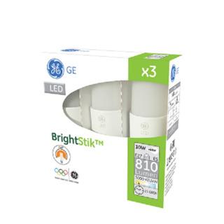 GE lighting LED žárovka E27, 10W, 3ks - teplé bílé světlo