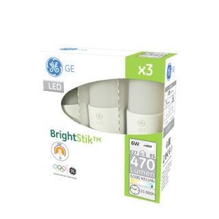 GE lighting LED žárovka E27, 6W, 3 ks - studené denní bílé světlo