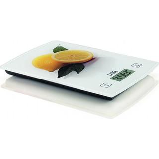 Laica KS1029 - oranžová digitální kuchyňská váha s motivem ovoce