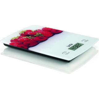 Laica KS1029 - bílá digitální kuchyňská váha s motivem ovoce