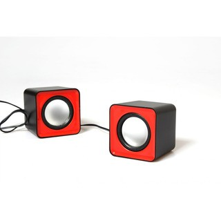 Media-Tech Fado Red - sada malých stereo reproduktory