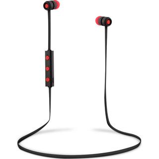 T`nB EBFLAT - červené univerzální bluetooth (v 4.1) sluchátka s mikrofonem a ovládáním na kabelu
