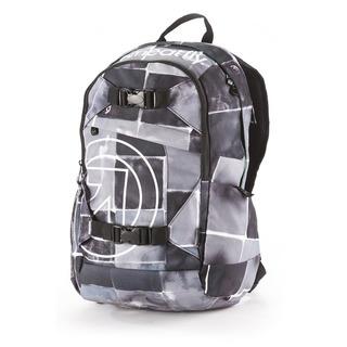 meatfly Basejumper J - Watercolor Black - černý batoh 20l