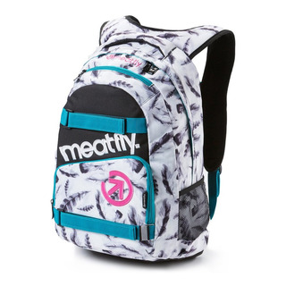 meatfly Exile 2 H - Feather White Print - bílý batoh 22l