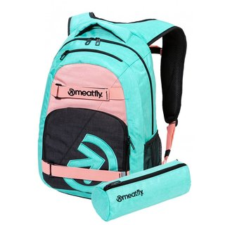 meatfly Exile 5 G - Heather Mint, Pink - zelený batoh 24l