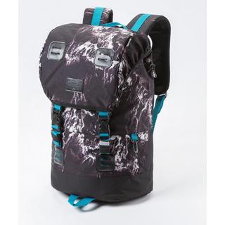 meatfly Pioneer 2 E - Waves Print - černý batoh 26l