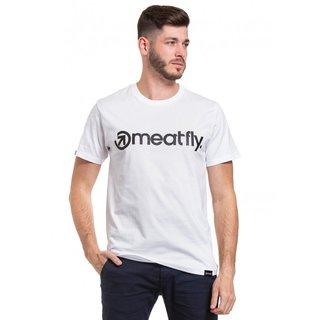 meatfly Logo 20 - B - bílé pánské tričko s krátkým rukávem