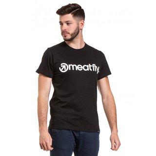 meatfly Logo 20 - A - černé pánské tričko s krátkým rukávem
