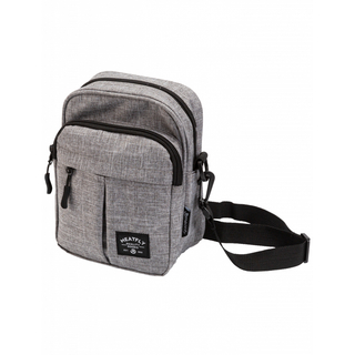meatfly Hardy Small Bag B - Heather Grey - šedá brašna přes rameno