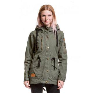 meatfly Lana Cotton Jacket - Olive - B - zelená dámská bunda