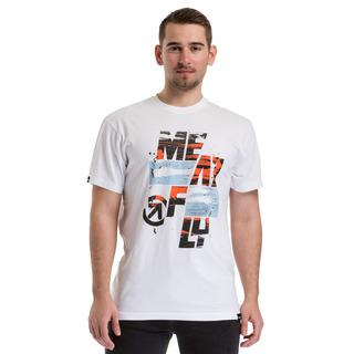 meatfly Burnout T-Shirt - A - bílé pánské tričko s krátkým rukávem