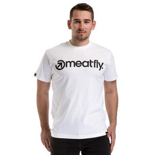 meatfly Logo T-Shirt - H - bílé pánské tričko s krátkým rukávem