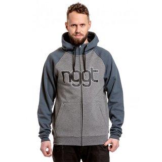 NUGGET Rail - Lead Grey, Dark Grey - E - šedá pánská mikina s kapucí zapínání na zip