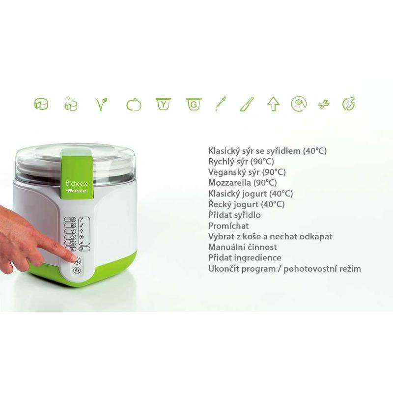 ARIETE 615 B-CHEESE - jogurtovač a výrobník sýra