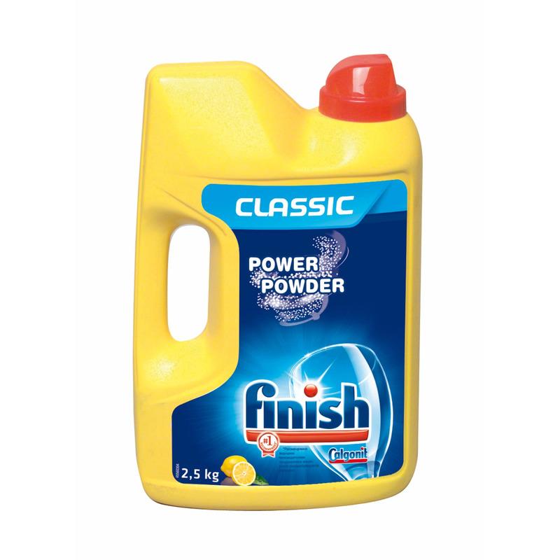 FINISH Power Powder Lemon prášek do myčky na nádobí 2,5 kg (Calgonit)