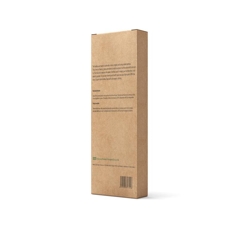 KUMPAN AS06 - rodinné balení bambusových kartáčků (5ks)