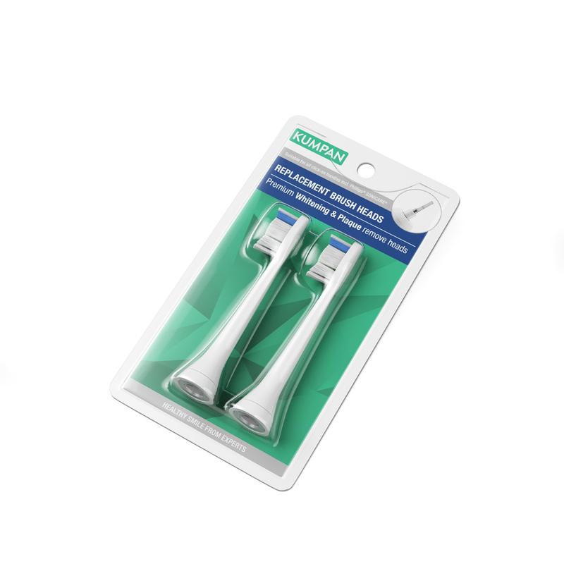 KUMPAN 016W Premium whitening / Plague remove - náhradní hlavice pro sonické kartáčky (2ks)