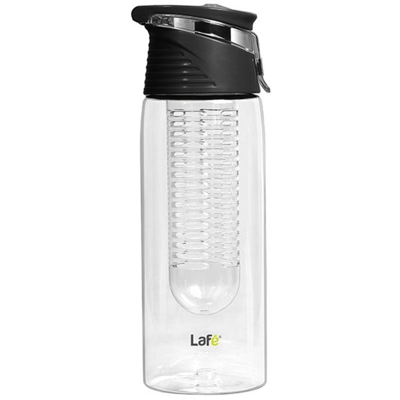 Lafé BIT004 - sportovní plastová láhev s košíkem na ovoce