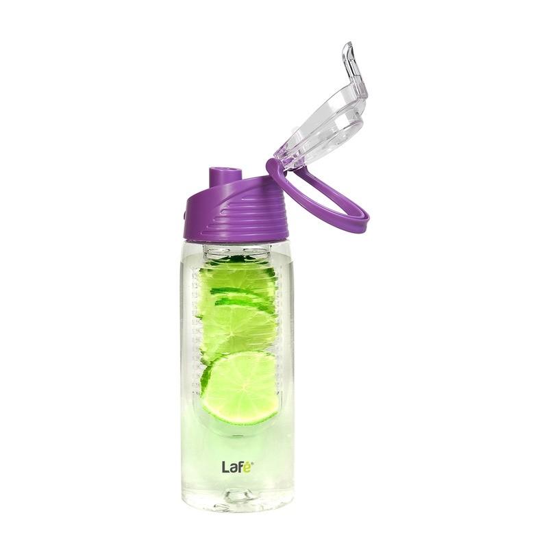 Lafé BIT002 - sportovní plastová láhev s košíkem na ovoce