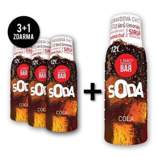 LIMOBAR sirup Cola pack (3+1 zdarma)