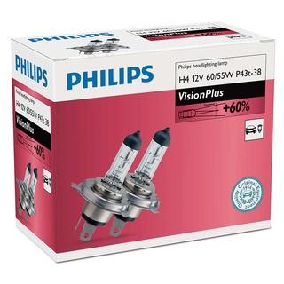 Philips H4 VisionPlus 2 ks - autožárovka