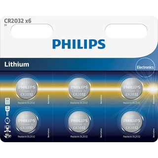 Philips baterie Lithium 6ks (CR2032P6/01B, CR2032)