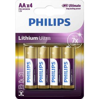 Philips baterie Lithium Ultra 4ks (FR6LB4A/10, AA, LR6)