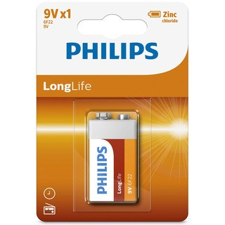 Philips baterie LONG LIFE 1ks blistr (6F22L1F/10, 9V)