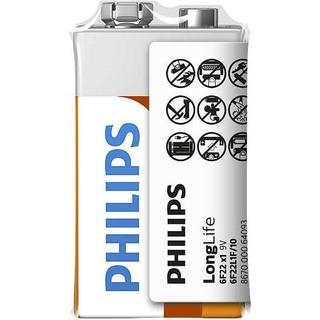 Philips baterie LONG LIFE 1ks folie (6F22L1F/10, 9V)