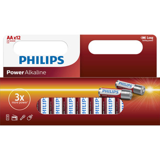 Philips baterie Power Alkaline 12ks blistr (LR6P12W, AA, LR6)