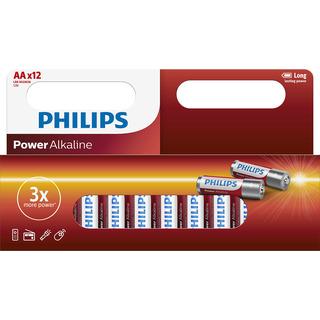 Philips baterie POWER ALKALINE (LR06P12W/10, AA, 12ks)