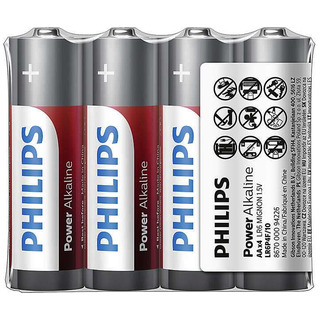 Philips baterie Power Alkaline 4ks fólie (LR6P4F/10, AA, LR6)