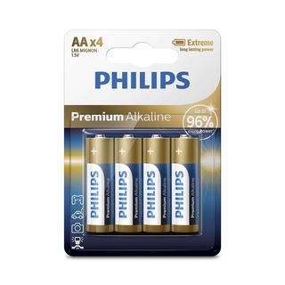 Philips baterie Premium Alkaline 4ks (LR6M4B/10, AA, LR6)