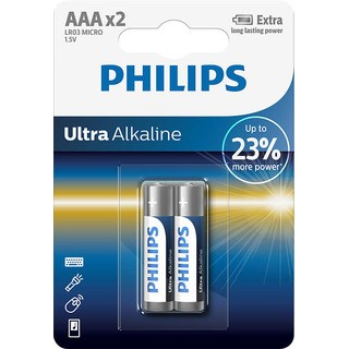Philips baterie ULTRA ALKALINE 2ks (LR03E2B/10, AAA, 1,5V)