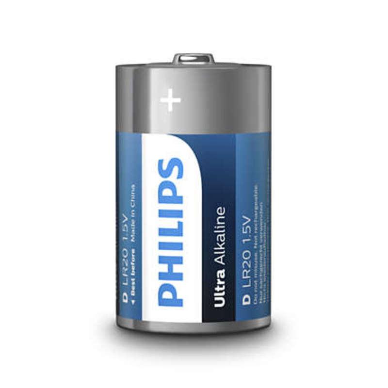 Philips baterie ULTRA ALKALINE 2ks (LR20E2B/10, D)