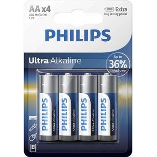 Philips baterie Ultra Alkaline 4ks (LR6E4B/10, AA, LR6)