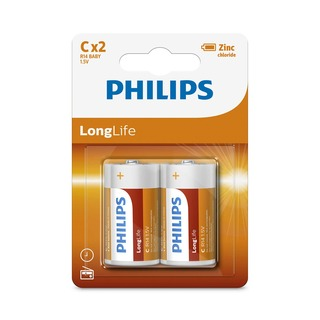 Philips baterie LONGLIFE 2ks blistr (R14L2B/10, typ C, LR14)