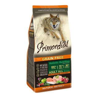 Primordial Adult Chicken & Salmon 2kg - bezobilné granule pro dospělé psy (kuře a losos)