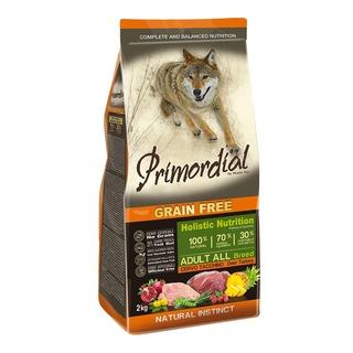 Primordial Adult Deer & Turkey 2 kg - bezobilné granule pro dospělé psy (vysoká zvěř, krocan)