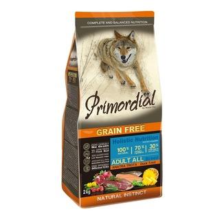 Primordial Adult Trout & Duck 2 kg - bezobilné granule pro dospělé (pstruh a kachna)
