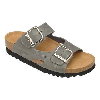 Scholl MOLDAVA WEDGE - šedé zdravotní pantofle