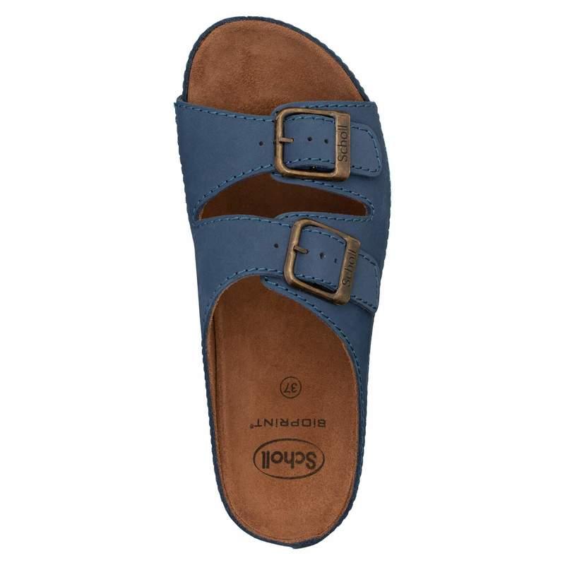 Scholl AIR BAG - modré zdravotní pantofle