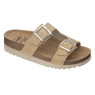 Scholl FILIPPA - béžové zdravotní pantofle