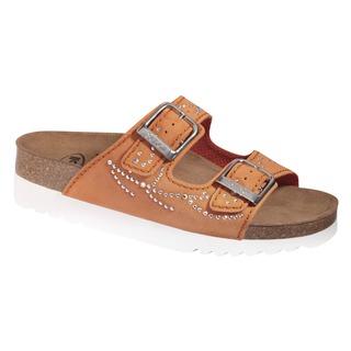 Scholl MALAREN oranžové zdravotní pantofle (model 2020)