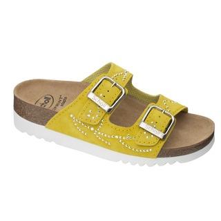 Scholl MALAREN - žluté zdravotní pantofle