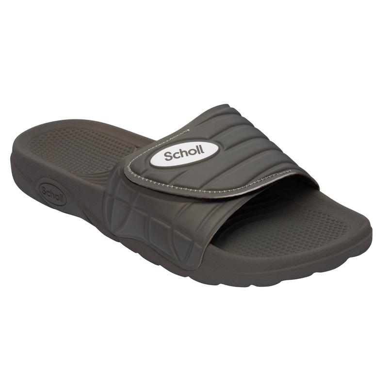 Scholl NAUTILUS - šedé zdravotní pantofle