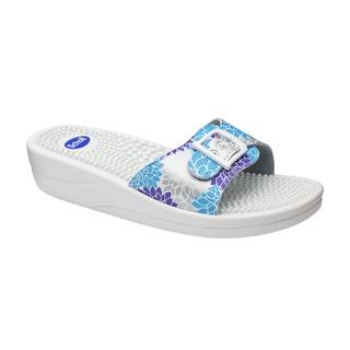 Scholl NEW MASSAGE stříbrné zdravotní pantofle