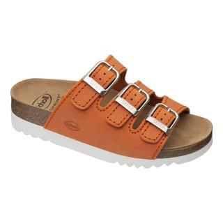 Scholl RIO WEDGE AD - oranžové zdravotní pantofle